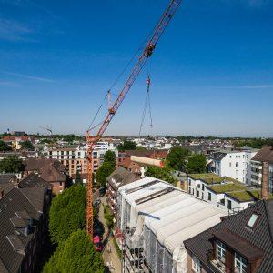 Dachsanierung an einem Mehrfamilienhaus
